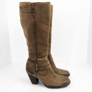 Born Taro Heeled Tall Riding Boots Distressed Look